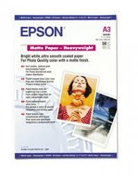 <b>Epson</b> SO41261, <b>Matte Paper Heavyweight</b>, <b>A3</b>, Pack of 50 ...