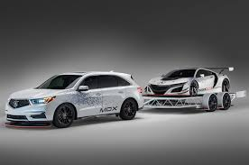modified acura mdx to tow nsx gt racer to sema