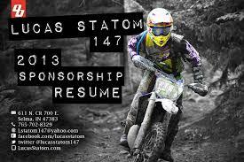 lucas statom sponsorship resume lucas statom sponsorship resume