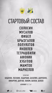 """<b>ФК</b> «<b>Анжи</b>» on Twitter: """"Наш состав на матч #АнжиРостов ..."""