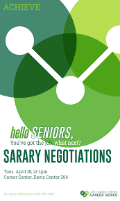 senior series salary negotiation uvm bored event navigation