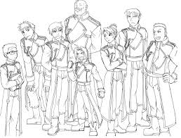 fullmetal alchemist coloring pages fullmetal alchemist coloring pages to print