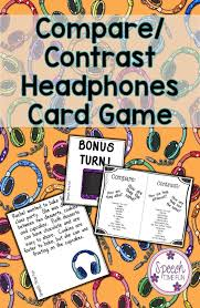17 best images about compare contrast texts compare contrast card game