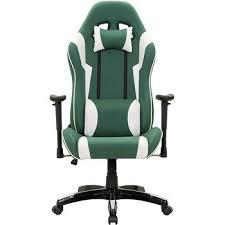 CorLiving <b>High Back</b> Ergonomic Gaming <b>Chair</b>, <b>Green</b> and White ...
