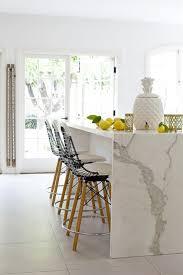 calacatta marble kitchen waterfall: view full size sunny kitchen with calcutta marble waterfall