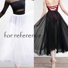 Panda Superstore Women Sheer <b>White Ballet</b> Long Skirt Soft Gauzy ...