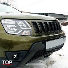 <b>Решетка радиатора</b> Jeep Cherokee Style на Renault Duster 1