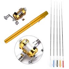 <b>Portable Pocket Telescopic Mini</b> Fishing Pole Pen Shape Folded ...