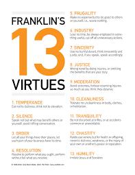 ben franklin s virtues my hometown franklin d after ben ben franklin s 13 virtues my hometown franklin d after ben franklin which
