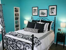 white black white bedroom interior