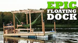 how to build an epic floating dock youtube build floating
