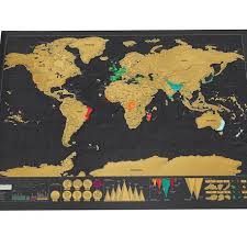 Unique Luxury World Travel Map <b>Black Deluxe</b> Scratch Map Wall ...