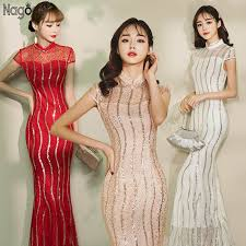 Compare <b>Nagodo Cheongsam Wedding</b> Dress 2020 New Striped ...