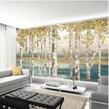 <b>beibehang Custom wallpaper 3D</b> papel de parede mural white birch ...