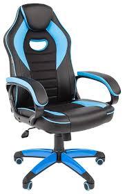 <b>Компьютерное кресло Chairman</b> GAME 16 игровое черный/голубой