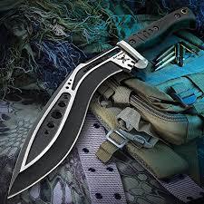 $61.99 United Cutlery <b>M48</b> Kukri TPR Plain <b>Knife</b> with Sheath, Black ...