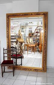 Large Faceted 217CMX157 CM <b>Wall Mirror Baroque Style</b> Wood ...