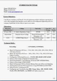 Standard Resume Format For Electronics Engineers Freshers