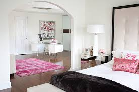 black trim in a pink and white bedroom black and pink bedroom furniture