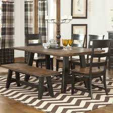 Kitchen Table With Benches Set Rustic Dining Room Table And Bench Best Dining Room