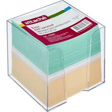<b>Attache Блок для</b> записей в подставке цветной 9х9х9 см ...
