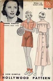1930s Uncut <b>Vintage</b> Halter <b>Dress</b> Pattern by Hollywood 890 ...