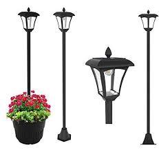 "<b>65</b>"" Street Vintage Outdoor Garden LEDs <b>Bulb Solar Lamp</b> Post ..."