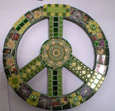 Awesome Mosaic Tile <b>Peace</b> sign. Also love the <b>imagine</b> tile ...