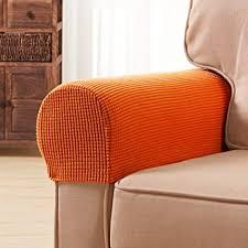 Stretch Sofa <b>Armchair</b> Armrest Covers Recliner Arm Covers Purplish ...