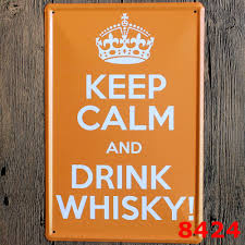 home decor plate x: good quality metal vintage tin signs quot keep calm and drink whisky quot wall art craft