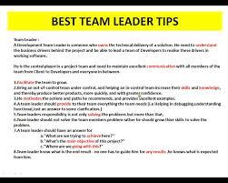 best team leader tips