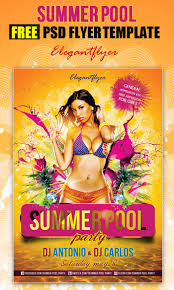 25 summer party flyer and poster psd templates summer pool party club and party flyer psd template