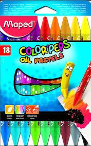 Краска-<b>пастель Maped масляная</b> 18 цветов — купить в интернет ...