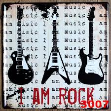 home decor plate x: i am rock new arrival large tin plate signs movie poster art cafe bar vintage metal