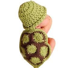 Koly <b>Newborn Baby</b> Turtle Crochet <b>Knitted</b> Clothes <b>Costume</b> Set ...