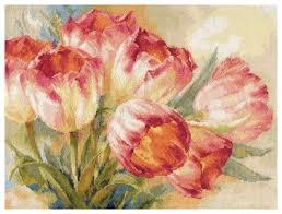 <b>Алиса Набор для вышивания</b> крестиком Тюльпаны 40 х 30 см (2 ...
