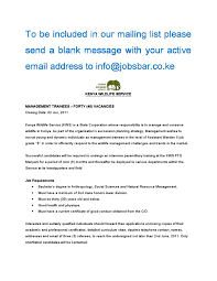 job opportunities by gilbert ouko issuu