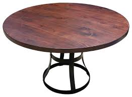 round dining table base: round detroit dining table with metal base industrial dining tables