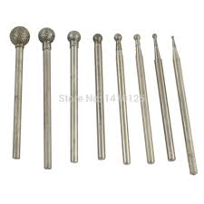 <b>8Pcs Diamond</b> Grinding Head Spherical <b>1 6</b> mm Set <b>Coated</b> ...