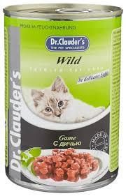 Корм для кошек Dr. Clauder's <b>Premium Cat</b> Food <b>консервы</b> с дичью