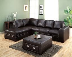 f durable dark genuine leather upholstery sectional sofa furniture ideas for innovative small living room together with square ottoman coffee table by basic innovative furniture small