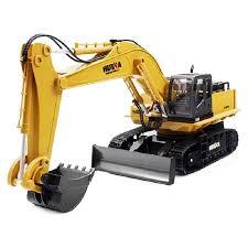 Huina 1510 <b>RC</b> Excavator <b>Car</b> 2.4G <b>11CH</b> Metal <b>Remote Control</b> ...