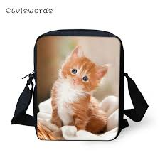 <b>ELVISWORDS Fashion</b> Messenger Bag Little Baby Cats Print ...