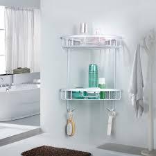 #JY Double Tiers <b>Triangle</b> Bathroom Corner Shelf Basket <b>Space</b> ...