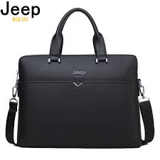 <b>JEEP BULUO Famous</b> Brand Business Briefcase Bag Cow Split ...