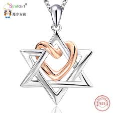 Wholesale <b>Strollgirl 925 Sterling Silver</b> Star Of David With Rose ...