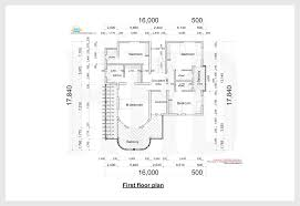 Floor plan and elevation of unique trendy house   Kerala home    Ground floor plan First floor plan