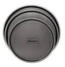 Buy Haneez Non-<b>Stick Pizza</b> Pan - Set of 3, Black Online at Low ...