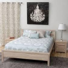 emily bedroom set light oak: light oak wood julia contemporary queen size bed amp two
