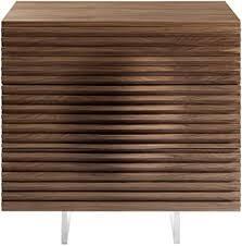 New Walnut <b>High</b> Gloss & Oak Veneer 3 Drawer <b>Bedside Cabinet</b> ...